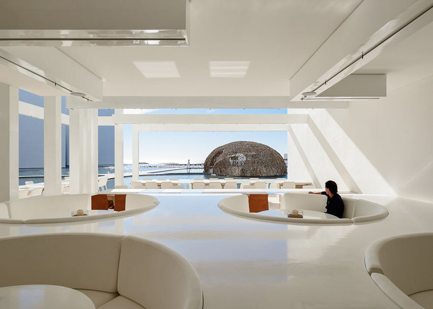 conversation pit restaurant mar adentro design boutique hotel los cabos