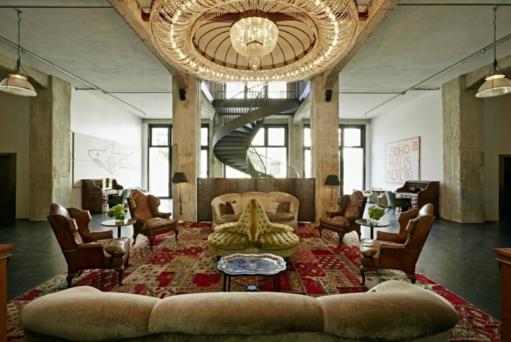 Soho House Berlin lobby