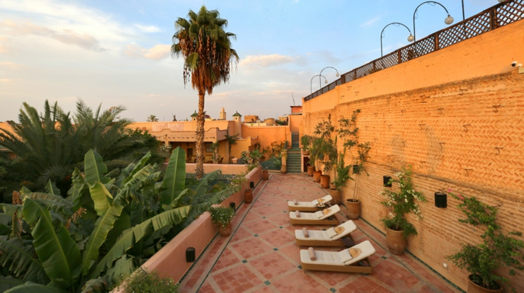 red city Marrakech terrace riad