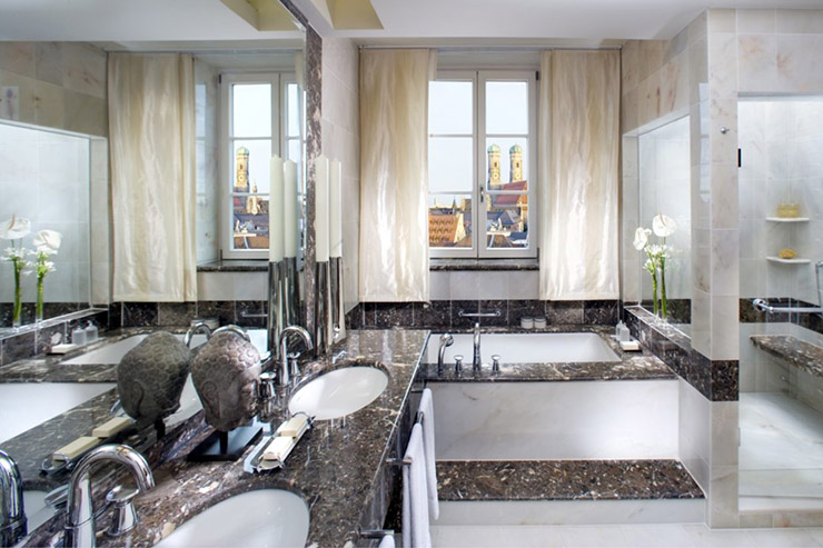 Designed Stylish Ensuite Bathroom Luxury Hotel Munich