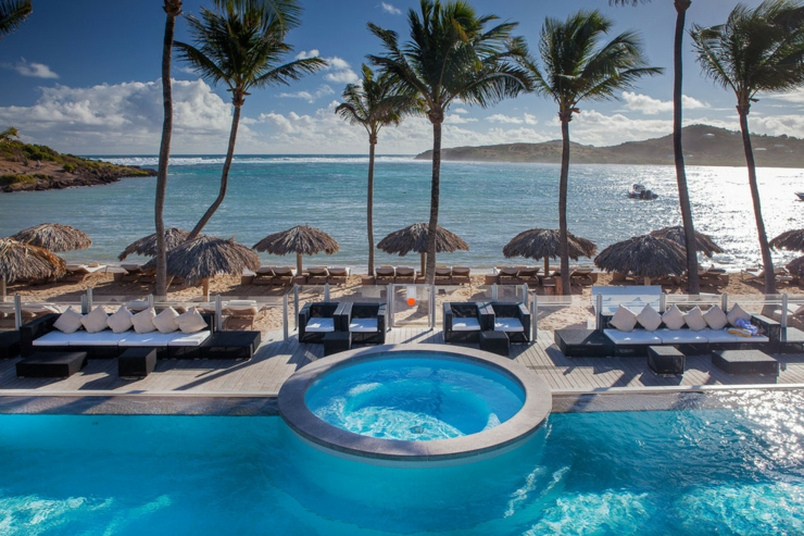 Hotel outdoor pool design  Lovely St Barts Hotel – Guanahani & Spa