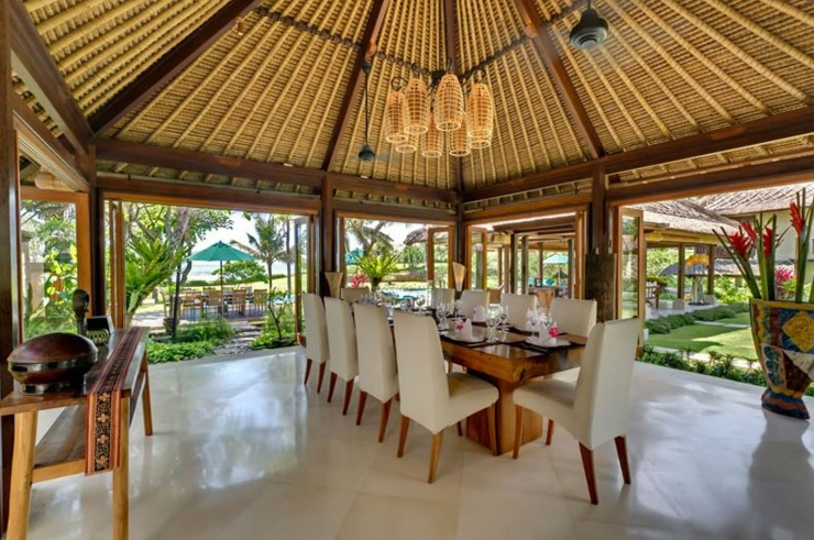 dining room exotic villa bali vacations