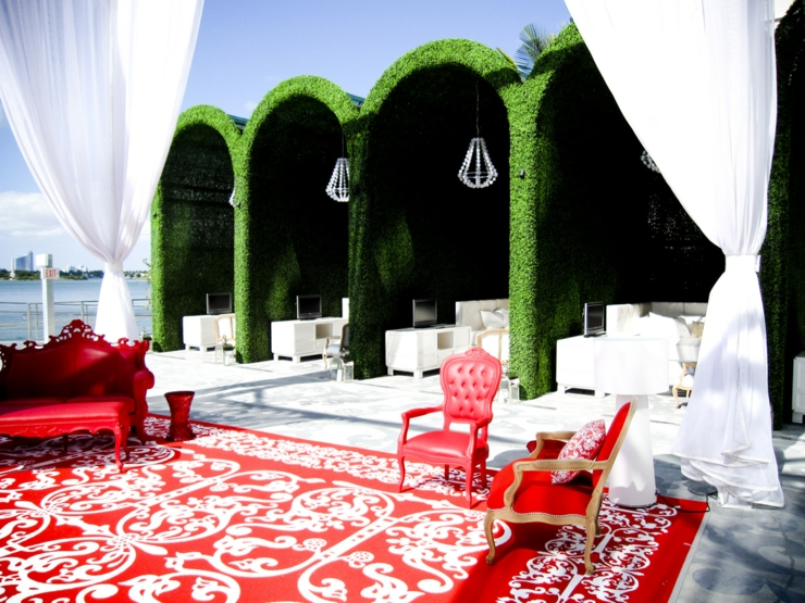 outdoor terrace mondrian luxury hotel design in miami