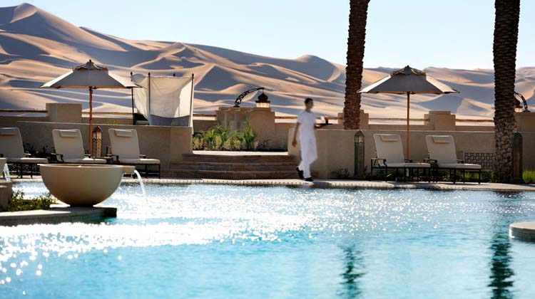 exotic luxury outdoor swimming pool Emirates Palace