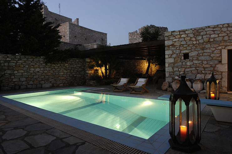 outdoor swimming pool hotel citta dei nicliani greece