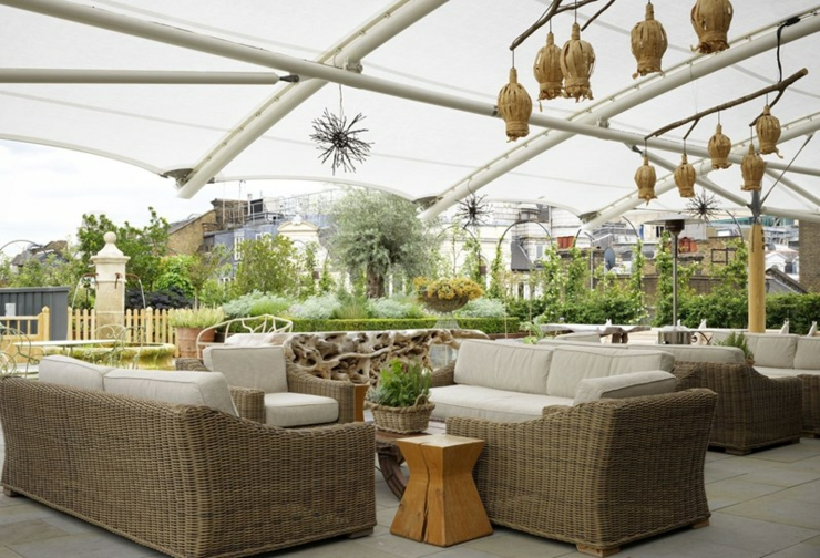 Rooftop terrace boutique luxury accommodation London