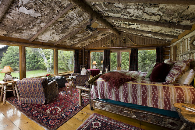 rustic decorated cabin rondeau visit lake placid