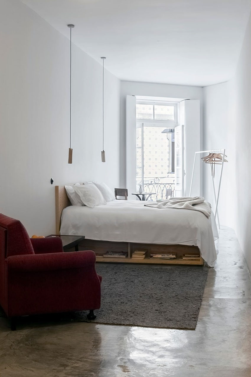 flat to rent in Porto minimalistic eclectic design