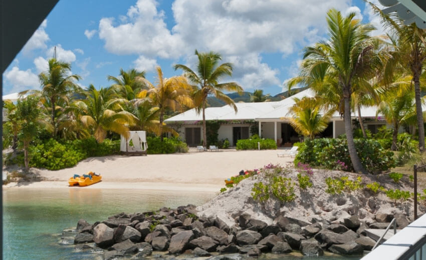 private beach exotic luxury rental