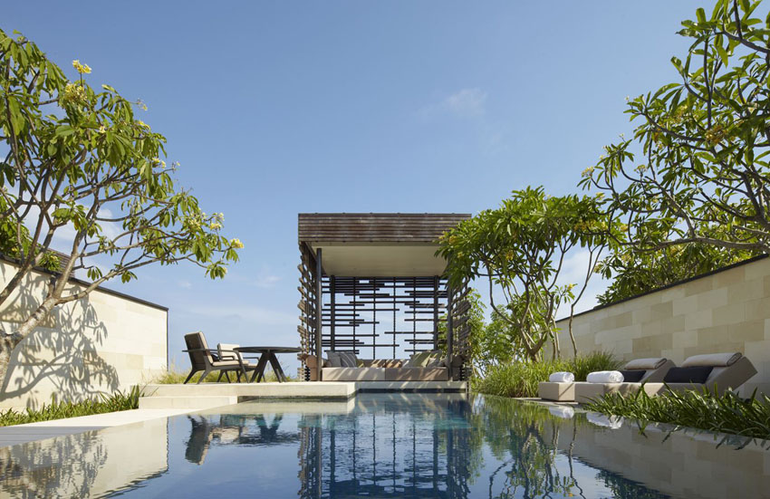 garden and pool with view bali alila villas