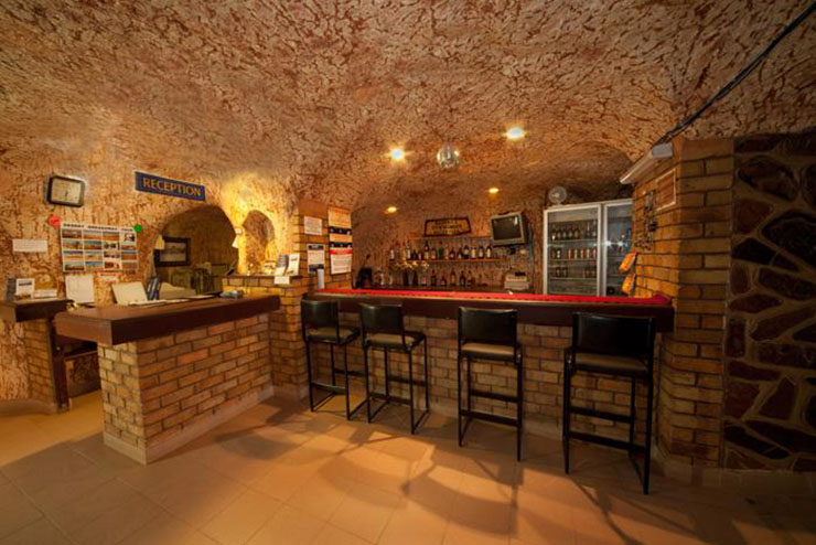 underground hostel reception and bar, Radeka, Coober Pedy