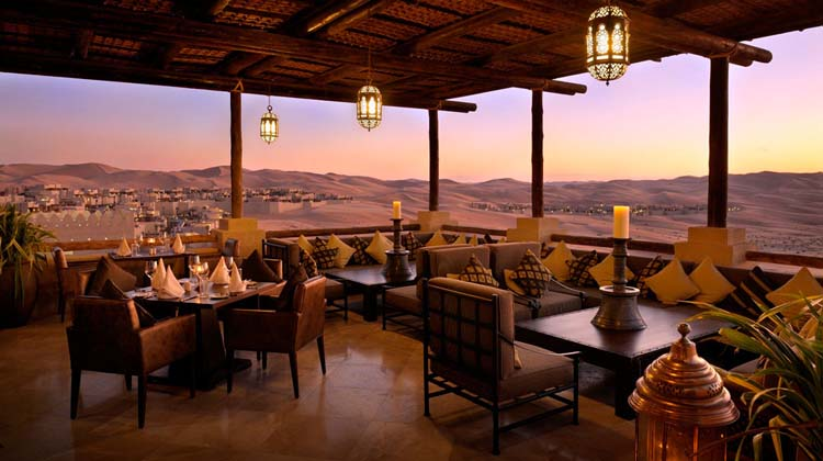 Sun set view hotel restaurant terrace