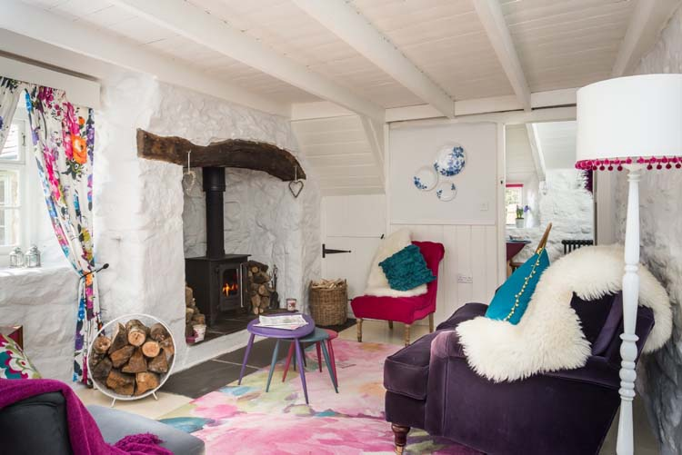 Lintel Fireplace Granite Walls Beamed Ceiling Pixie Nook Is An English Cottage Full Of Charm