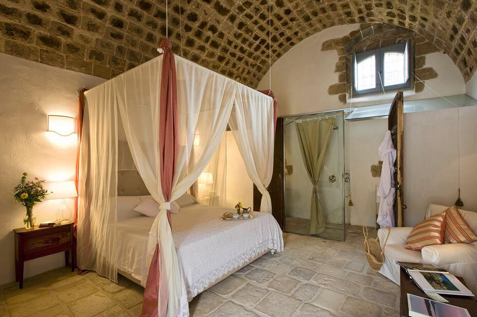 rustic style bedroom in italy