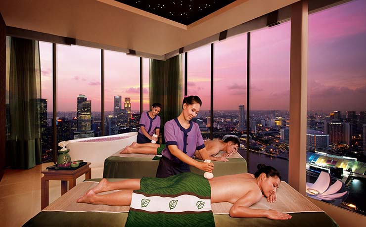 singapore best spa senter at marina bay sands