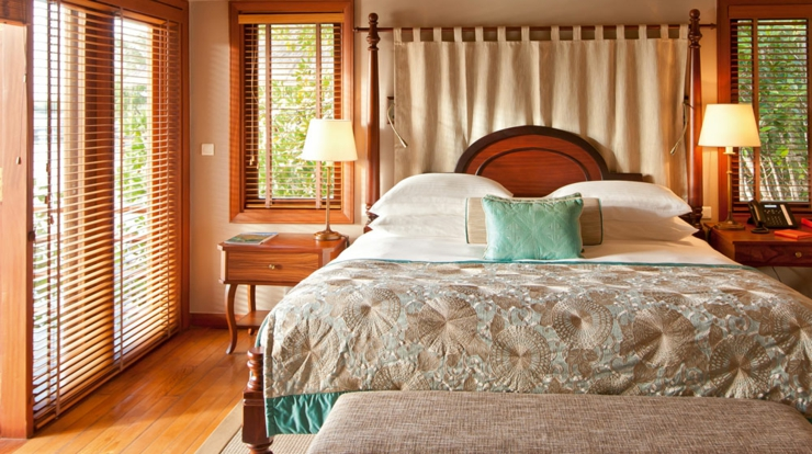 exotic wooden furnished suite hotel mauritius