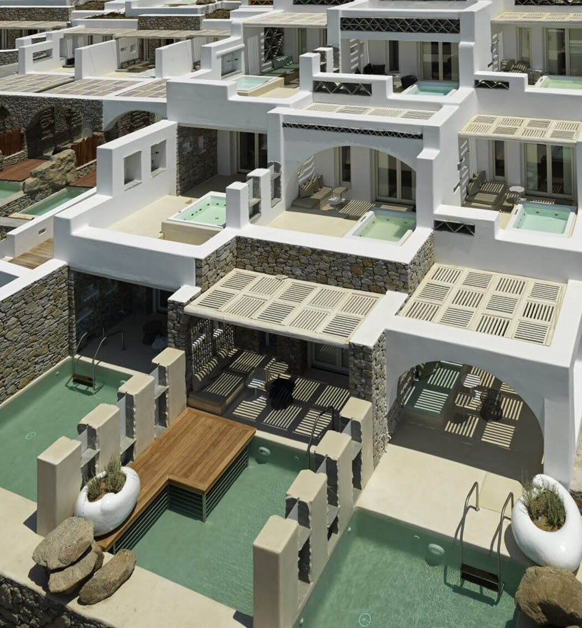 luxury hotel suites rental mykonos greece