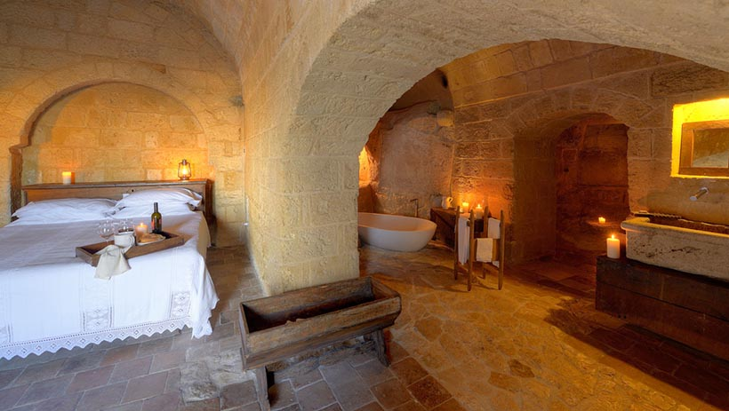 Amazing Hotel set in Cave Rooms at South Italy