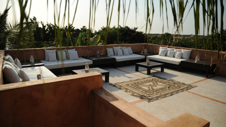 spacious balcony with view rental senegal