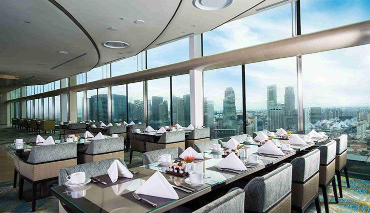 the club restaurant singapore city view