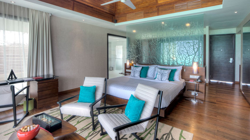 luxury stylish suite maldives islands resort per aquum