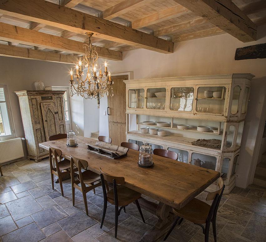 Retro Old Fashioned Rustic Furniture Villa Southern France
