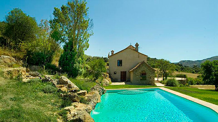 Villa Laura Has Large Outdoor Pool Among Green Gardens. Outdoor Pool Villa  For Rental Spain