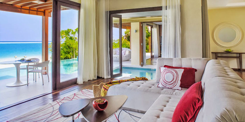 beautiful villa Maldives Per Aquum resort stylish suites
