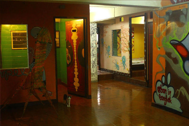 The Overstay Hostel's Interior is Well Decorated with Street Art