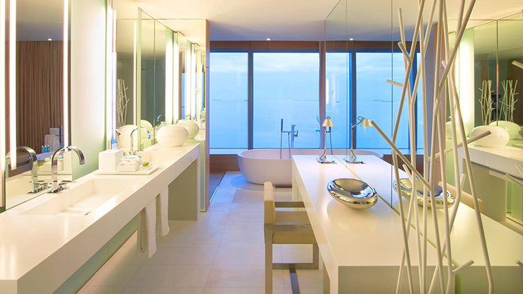 golden style bathroom luxury w hotel barcelona. W Barcelona   Sail Like Hotel in Catalonia