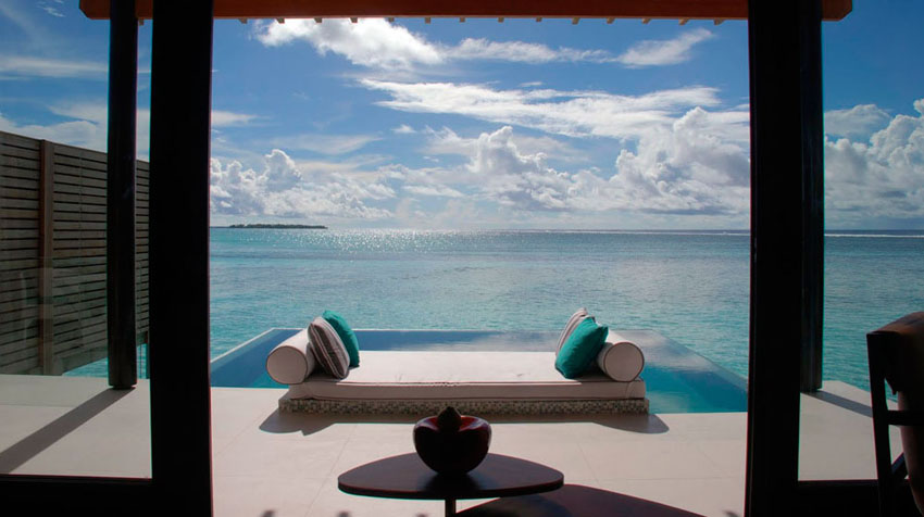waterfront pavilion prestige rental villa maldives