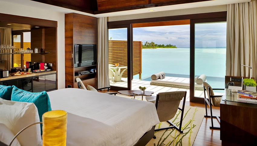 waterfront pavilions ocean view luxury destination maldives per aquum