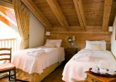 bedroom wooden stylish chalet french alps