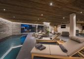 Luxury indoor pool at chalet in verbier