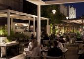 outdoor cafe restaurant mamilla jerusalem
