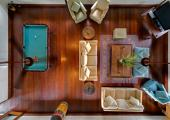 exotic wood interior design stylish villa