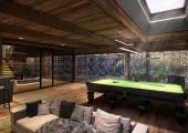 snooker room luxury villa austria ski holiday