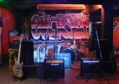 live music venue at overstay hostel in bangkok