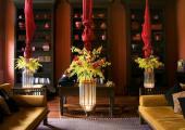 lovely hotel lounge interior exotically furnished
