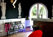 boutique hotel bar modernly stylishly furnished
