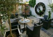 luxury hotel cafe green decor