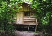 wooden lodge rustic and simple