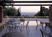 patio terrace view over mani greece