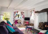 deco accessories modern playful design rustic cottage vacation rental