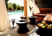 outdoor space luxury villa senegal
