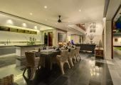 spacious dining are for 12 people luxury villa bali