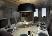 luxury dining area ski vacation french alps