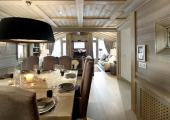 modern style dining and living room chalet for rental