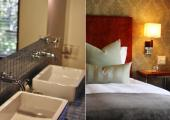 south africa holiday luxury hotel bedroom and bathroom