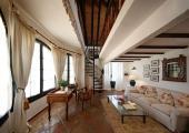 interior wooden exotic villa rental country holidays spain